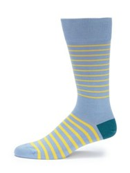 Paul Smith Striped Cotton Blend Socks Light Blue