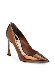 Christian Dior Patent Leather Pumps Bronze