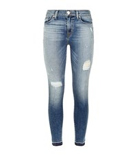 Hudson Distressed Knee Jeans Female Blue