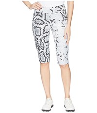 Jamie Sadock Side Zip Anaconda Print Knee Kapris Jet Black Capri