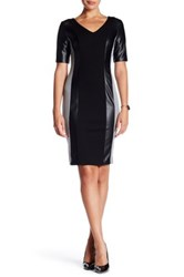 Nue By Shani Contrast Constructed Dress Black