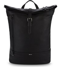 Replay Leather Backpack Black