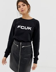 French Connection Fcuk Print Sweatshirt White