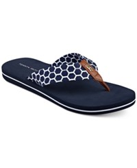 Tommy Hilfiger Cargo Flip Flop Sandals Women's Shoes Navy