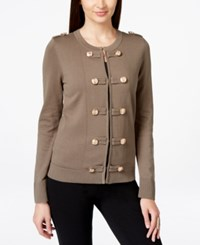 Inc International Concepts Petite Military Style Sweater Coat Only At Macy's