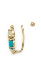 Kristen Elspeth Earring And Ear Cuff Set Gold Turquoise