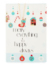 Lydell Nyc Circle Necklace With Merry Everything Card Gold