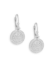 Freida Rothman Classics Small Times Square Drop Earrings Silver