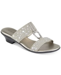 Karen Scott Eanna Sandals Created For Macy's Women's Shoes Silver