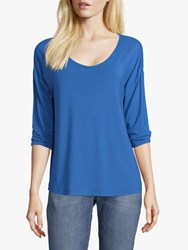 Betty Barclay And Co. Three Quarter Sleeved T Shirt Olympian Blue
