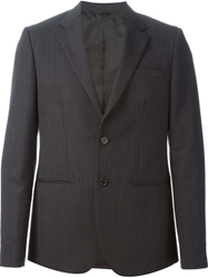 Raf Simons Sterling Ruby Classic 2 Button Constructed Blazer Blue