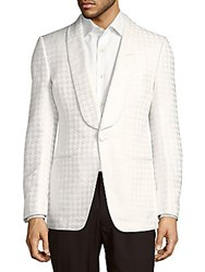 Tom Ford Houndstooth One Button Jacket White