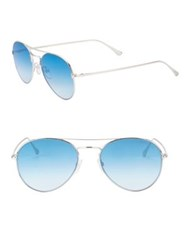 Tom Ford 55Mm Ace Aviator Sunglasses Blue