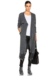 Thakoon Addition Scarf Tie Cardigan In Gray