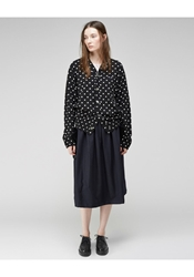 Comme Des Garcons Oversized Dot Cardigan Black And Natural