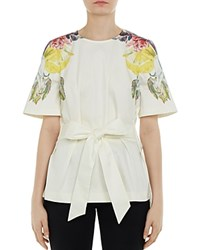 Ted Baker Bonnay Tranquility Tie Waist Tunic White