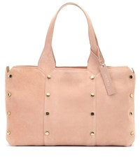 Jimmy Choo Lockett S Suede Shopper Pink