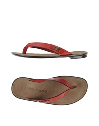 Dolce And Gabbana Footwear Thong Sandals Men Red