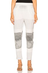 Raquel Allegra Easy Pant In Gray Ombre And Tie Dye Gray Ombre And Tie Dye