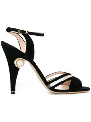 Nicholas Kirkwood 105Mm 'Penelope' Cross Strap Sandals Black