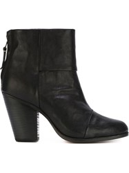 Rag And Bone Rag And Bone Zipper Booties Black