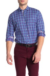Tailorbyrd Plaid Long Sleeve Shirt Big And Tall Blue