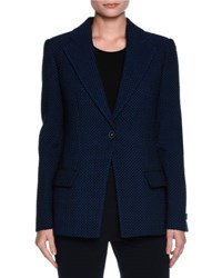 Giorgio Armani Contrast Dot Stretch Jacket Midnight Blue