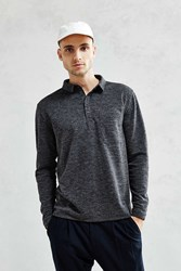 Your Neighbors Boxy Long Sleeve Polo Shirt Grey