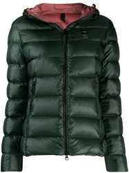 Blauer Hooded Down Jacket Green