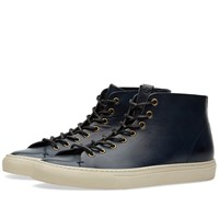 Buttero Tanino Mid Leather Sneaker Blue