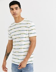 Celio Printed T Shirt In Off White