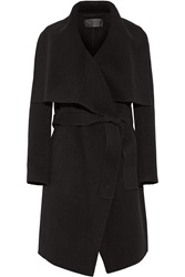 Donna Karan Draped Double Faced Cashmere Coat
