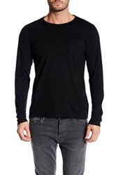 Micros Long Sleeve Knit Pullover Black