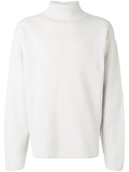 Tom Ford Ribbed Knit Sweater Grey