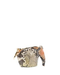 Loewe Python Elephant Bag Charm Coin Purse Brown