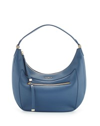 Furla Ginevra Medium Leather Hobo Bag Indaco