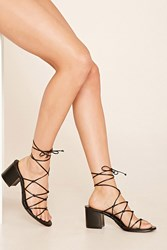 Forever 21 Strappy Lace Up Sandals