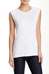 Bcbgmaxazria Cristi Sleeveless Blouse White