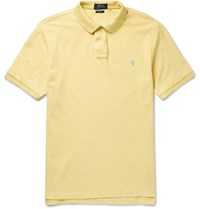 Polo Ralph Lauren Slim Fit Cotton Pique Shirt Yellow