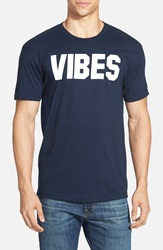 Kid Dangerous 'Vibes' Graphic T Shirt Navy White