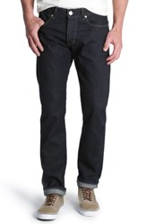 Wrangler Spencer Selvedge Slim Straight Leg Jeans Resin Rinse