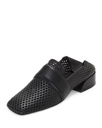Mercedes Castillo Mati Perforated Flat Loafers Black