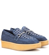 Stella Mccartney Denim Platform Loafers Blue