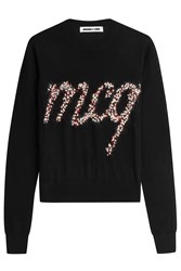 Mcq By Alexander Mcqueen Wool Pullover With Embellished Knit Logo Black