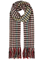 Isabel Marant Alva Wool And Cashmere Blend Scarf Multicoloured