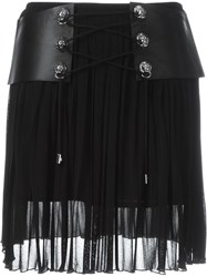 Versus Belted Mini Skirt Black