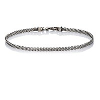 Title Of Work Men's Mesh Band Wrap Bracelet Silver