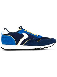 Voile Blanche Mesh Panelled Sneakers Men Leather Suede Nylon Rubber 43 Blue