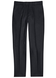 Tiger Of Sweden Black Tapered Wool Blend Trousers