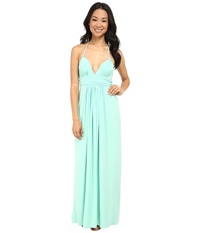 Tbags Los Angeles Halter Maxi Dress Mint Women's Dress Green
